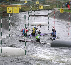 A photo of the slalom course in action